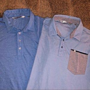 Travis Mathew TM Lot of 2 Golf Polo Shirts